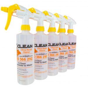 XClean Xtreme Clean Trigger Sprayers x 5