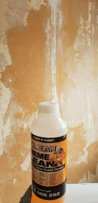 Xtreme Clean makes stripping wallpaper easy